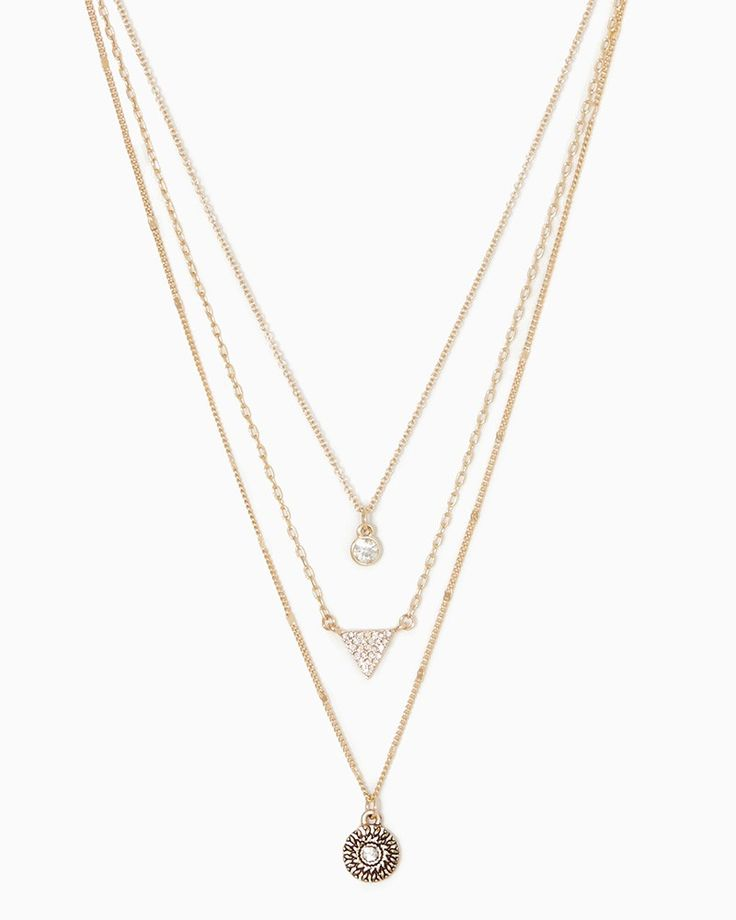 charming charlie | Brynn Layered Charm Necklace #charmingcharlie