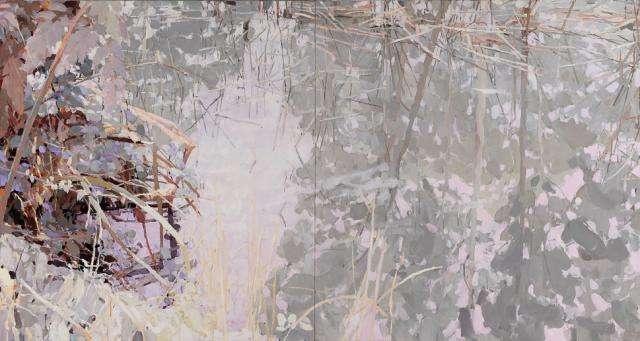 Mary Tonkin, Still, Kalorama 2009 oil on linen 125 x 234 cm
