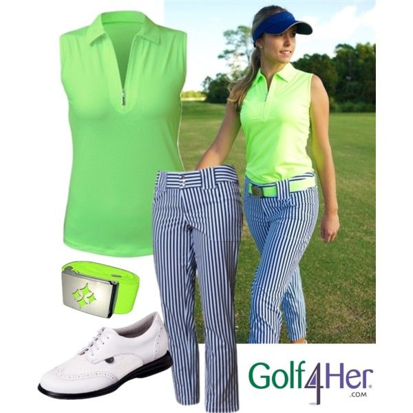 Ladies Golf Ootd Blue Depth Neon Available At Golf4her