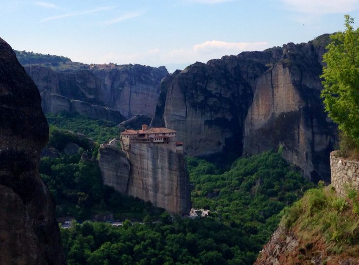 Meteora, Greece where monasteries were built on cliffs to literally get away from the world.