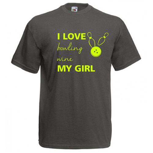 I love my girlCe ii place lui: bowling, vinul, si, cel mai important, prietena ei. Daca doriti alt text, scrieti-ne la observatiile comenzii.