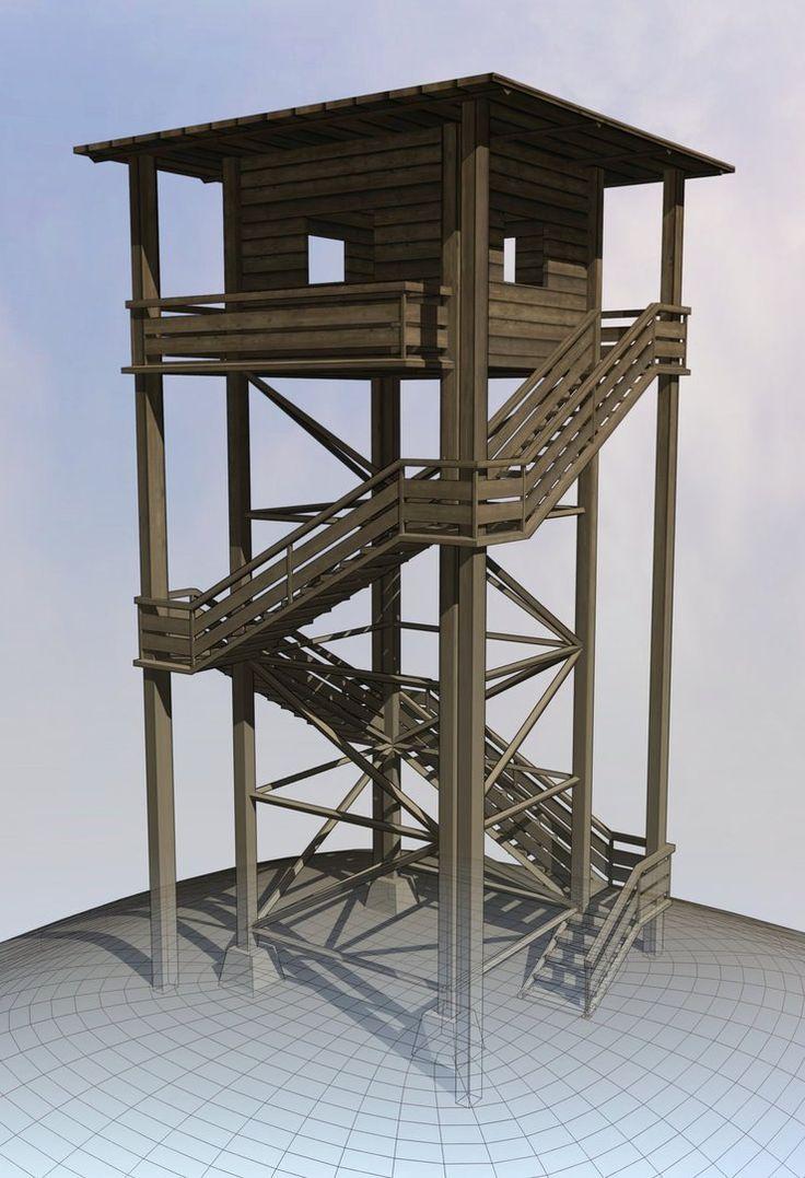 wooden tower - Google-haku