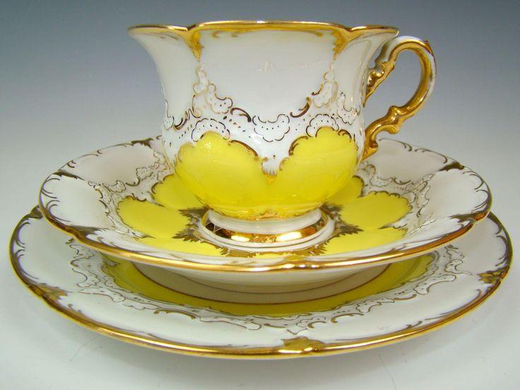 Vintage porcelain tea set by Meissen, Germany