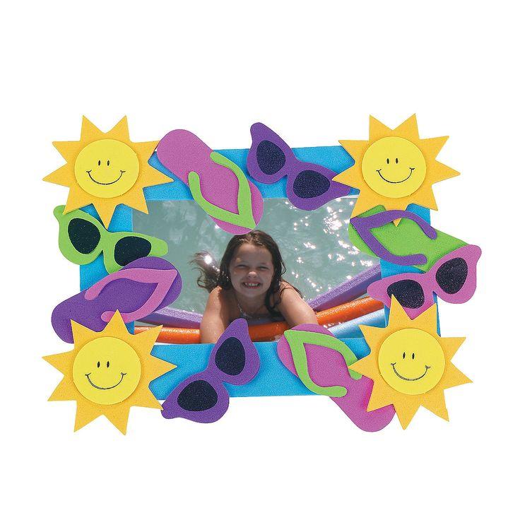 Summer Fun Picture Frame Magnet Craft Kit - OrientalTrading.com