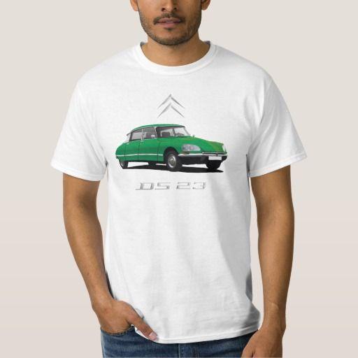Citroën DS 23 -green - silver badges DIY  #citroends #citroen #automobile #classic #car #tshirt #green