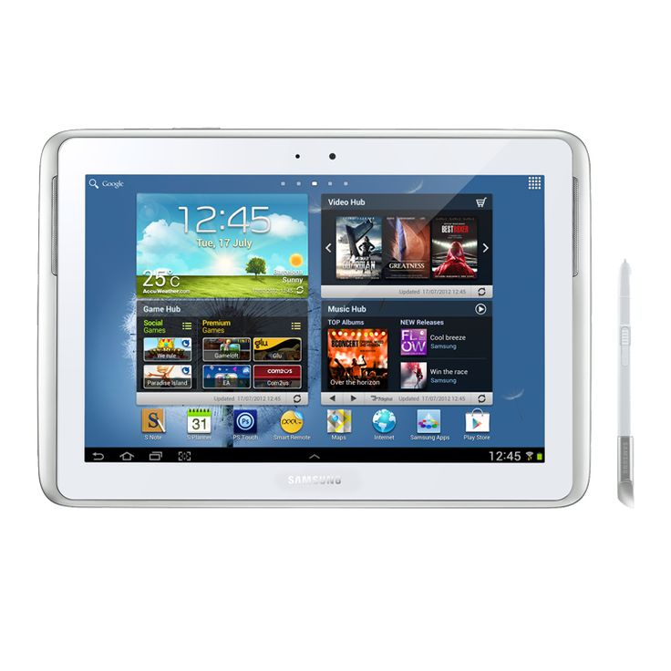 "Samsung N8000 Note 10.1"" 16GB 3G White EU"