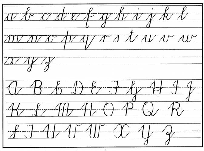 Worksheets Cursive Alphabet Pdf 1000 images about language handwriting on pinterest brain imaging studies reveal that multiple areas of become co activated during learning cursive writing pseudo letters as oppose