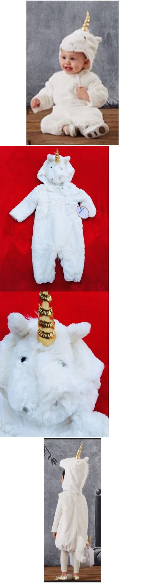 Halloween Costumes Kids: Pottery Barn Kids Plush Baby Unicorn Costume Dress Up One Piece 6-12 Months Nwt BUY IT NOW ONLY: $59.99