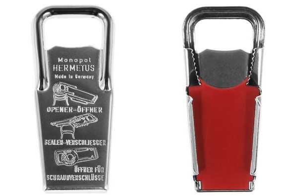 Everyone needs a little bottle opener for a light refreshment while you stoke the flames; this one also reseals a half-drank beer bottle, from @kaufmannmerc  | Washingtonian