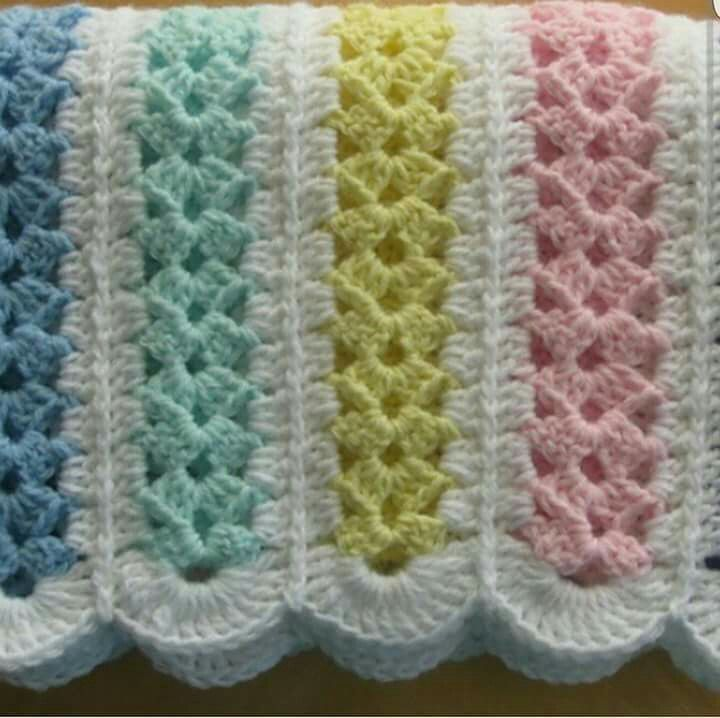 Free Crochet Afghan Patterns For Baby Girl : 1000+ images about Aplicaciones de tejidos on Pinterest ...