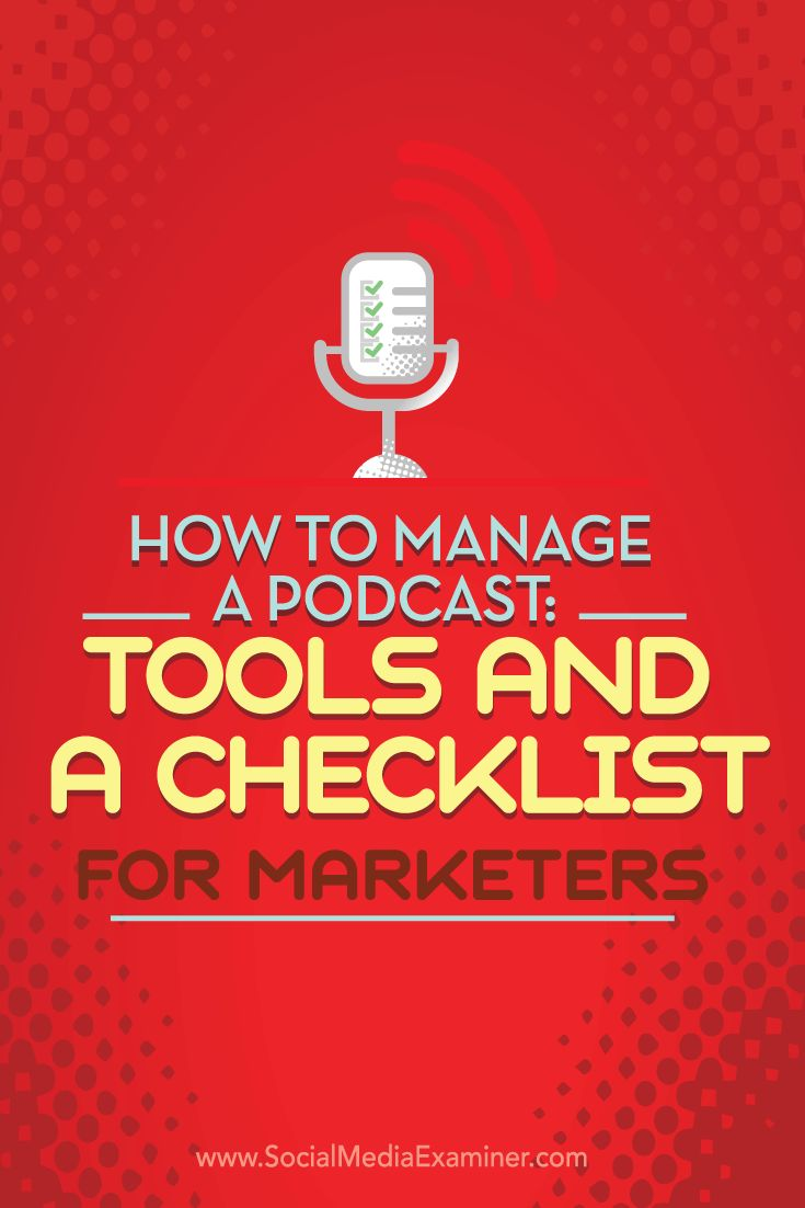 Are you interested in starting a podcast?  Creating a successful podcast doesn't have to be a time-consuming process. Today, tools can helpstreamline activities such as findingguests, publishing audio, and promoting episodes.  In this article you'll discover how to manage your podcast from start to finish. Via @smexaminer.
