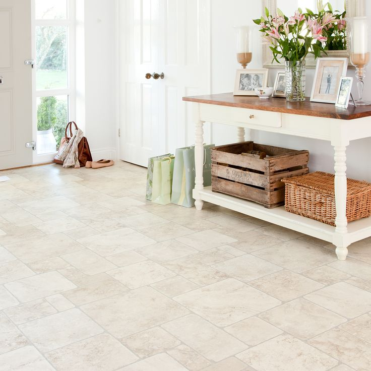 Atlas 903 Babylon White Stone Effect Vinyl Flooring Favorite