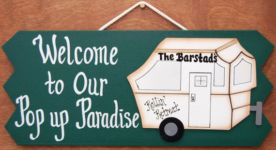 Personalized Pop Up Camper RV Sign by ucsign on Etsy