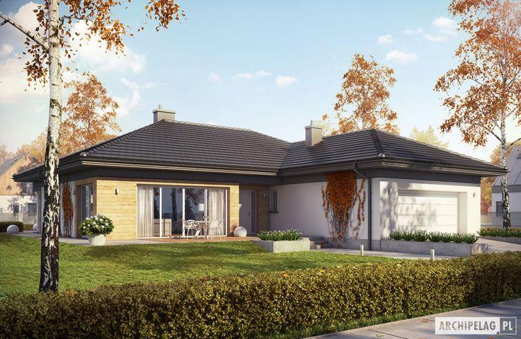 Projekty domów ARCHIPELAG - Dominik G2 (wersja A)