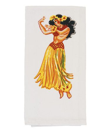 Take a look at this Hula Flour Sack Towel - Set of Two by Red and White Kitchen Company on #zulily today!