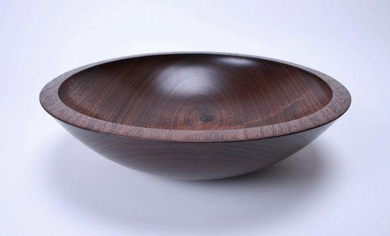 Black Walnut Wooden Salad Bowl 1378 by sanderswoodworking on Etsy