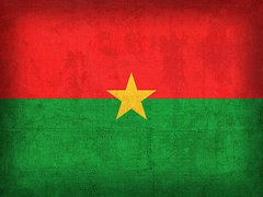 Burkina Faso Flag Art - Burkina Faso Flag Vintage Distressed Finish by Design Turnpike
