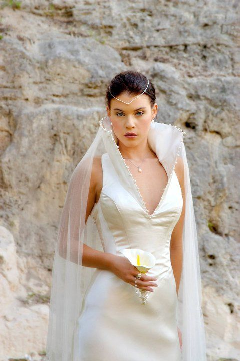 White high neck wedding dress #GOT http://www.arcarocouture.com.au