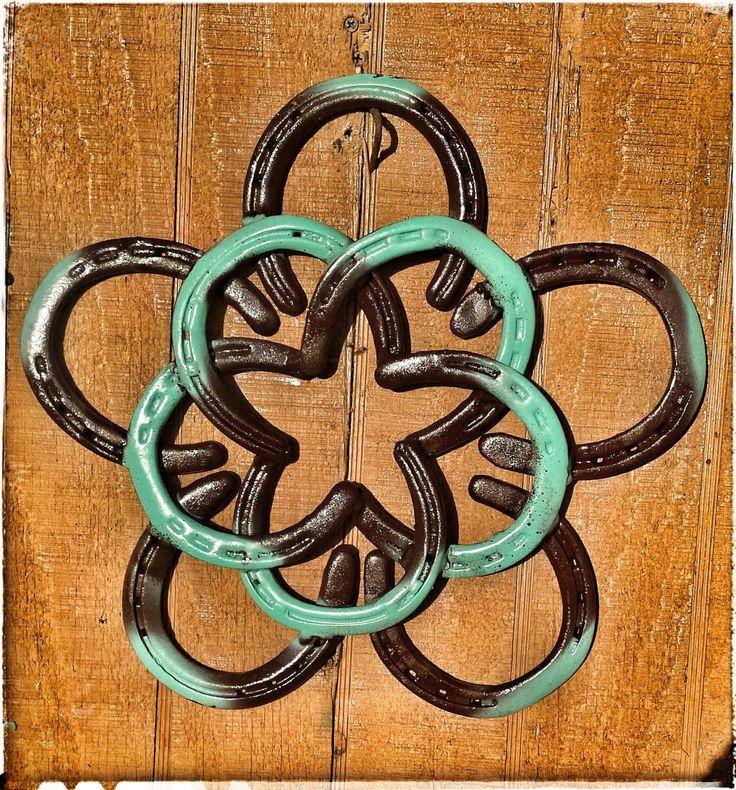 Horseshoe Star Flower Wreath, Texas Star Wreath, Custom made Horseshoe Wreath, Handmade Country decor, Country Love Decor, Handmade Wreaths by KadysKustomKrafts on Etsy https://www.etsy.com/listing/196825919/horseshoe-star-flower-wreath-texas-star