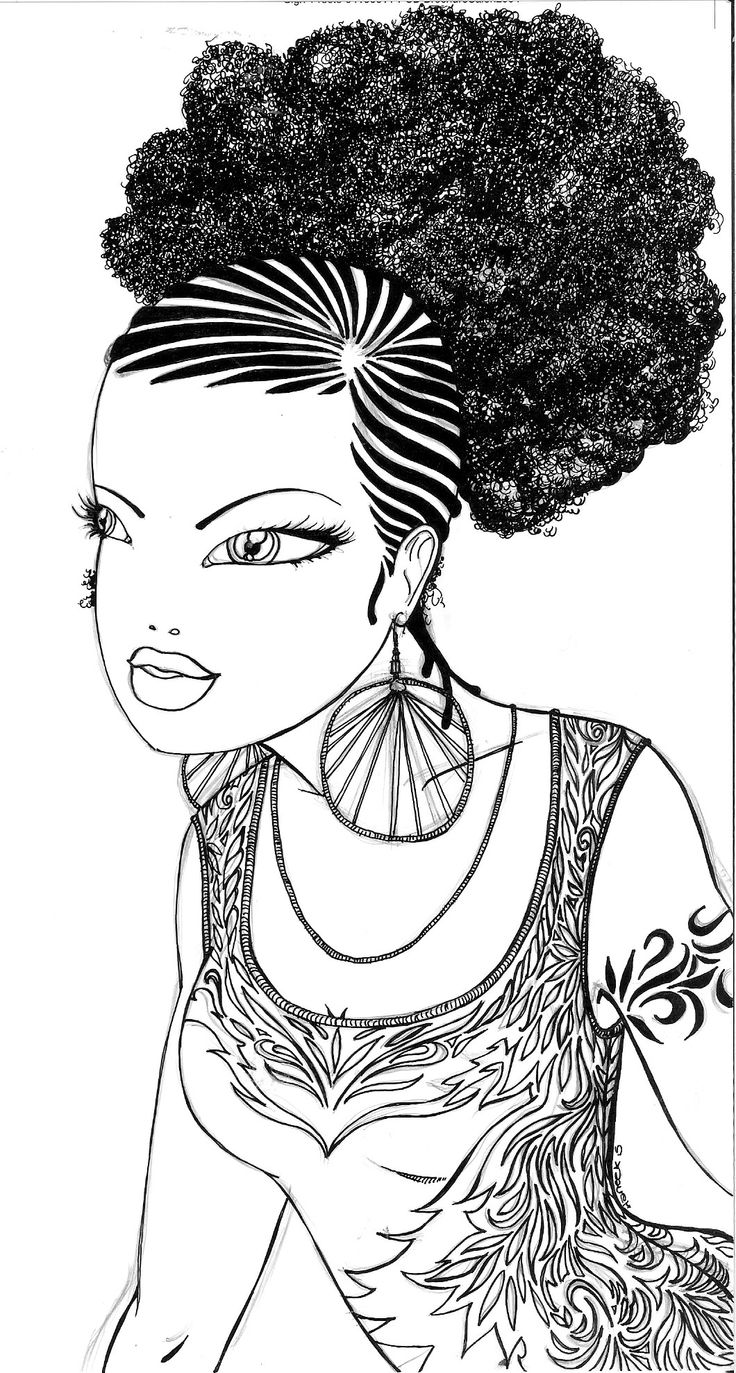 unwashed hair for coloring pages - photo#46