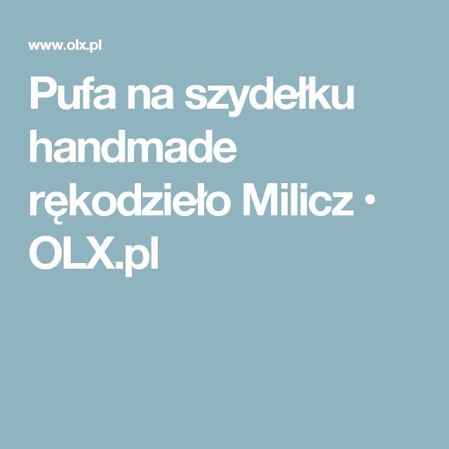 Pufa na szydełku handmade rękodzieło Milicz • OLX.pl