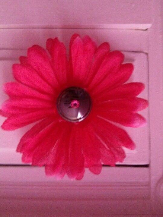 DIY knob for little girls dresser.