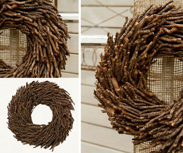 stick wreath - Google Search