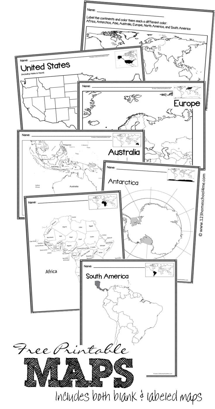 40 best maps and globes for kids images on pinterest maps free printable blank maps publicscrutiny Choice Image