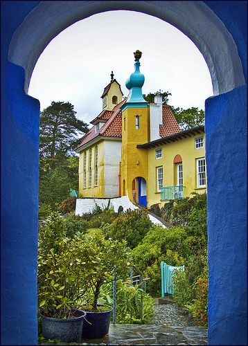 Portmeirion is a popular tourist village in Gwynedd, North Wales. It was designed and built by Sir Clough Williams-Ellis between 1925 and 1975 in the style of an Italian village, and is now owned by a charitable trust.