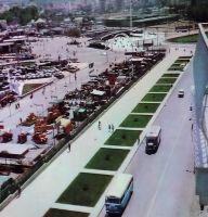 Η οδός Αγγελάκη και τμήμα της Έκθεσης τη δεκαετία το 1960.
