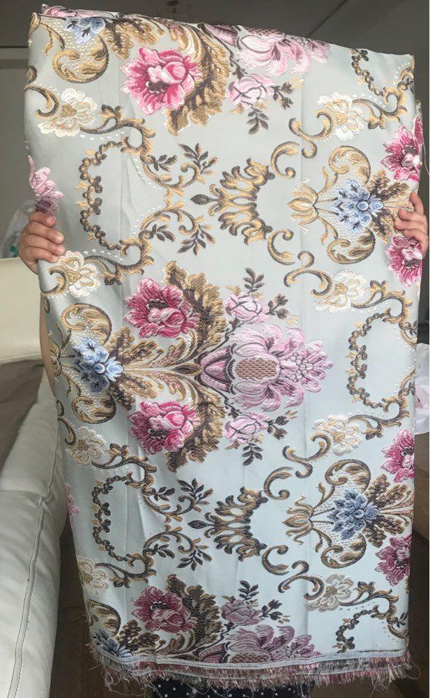 Online Shop Court Brocade Fabric Damask Jacquard Embossed Flower Garments Sofa Curtain Upholstery Fabric 145cm Wide By Brocade Fabric Upholstery Fabric Damask