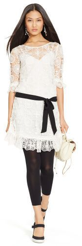 Polo Ralph Lauren Belted Lace Dress