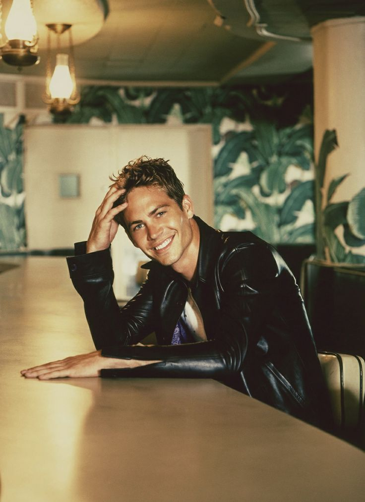 Paul Walker what is it with men and leather jackets