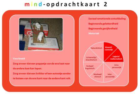 Mind-opdrachtkaart voor peuters en kleuters
