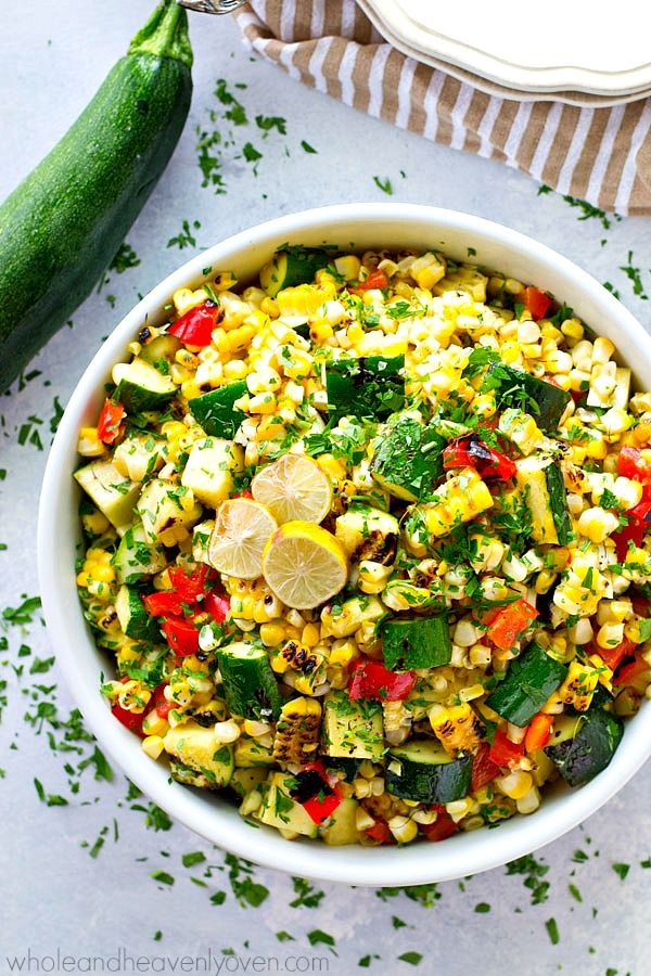 Charred Zucchini Mexican Sweet Corn Salad | Recipe | Other, Sweet corn ...