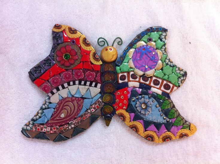 Mosaic Butterfly   Made from polymer clay tiles and canes. I…   Flickr
