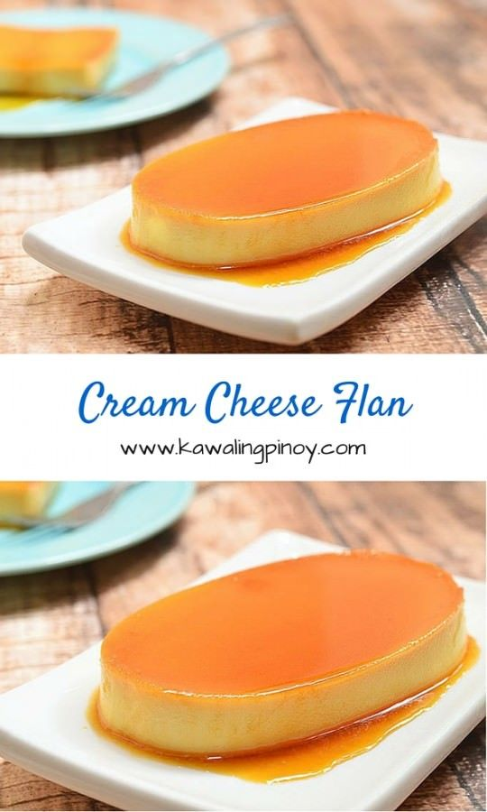 Soft and velvety  with golden caramel topping, this cream cheese flan will surely satisfy your deepest sweet cravings