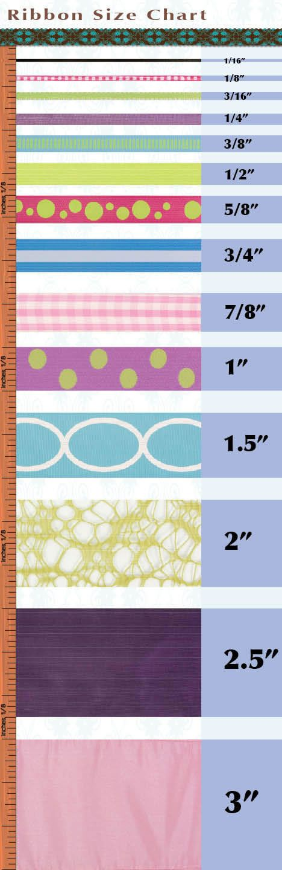 Ribbon Size Chart - very useful