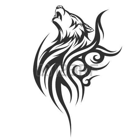tatouage: tatouage tribal conceptions de loup