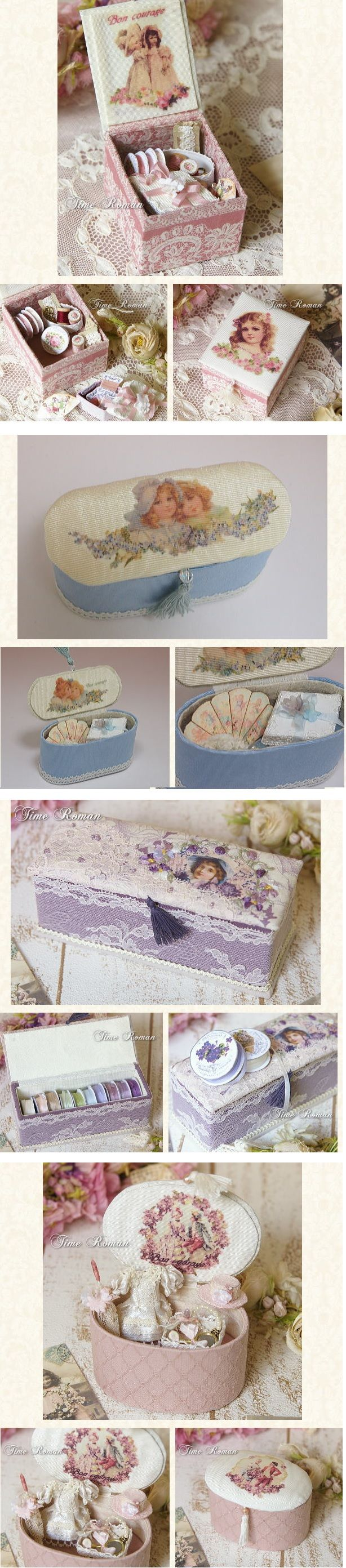 Love these for handmade sewing box ideas! :)