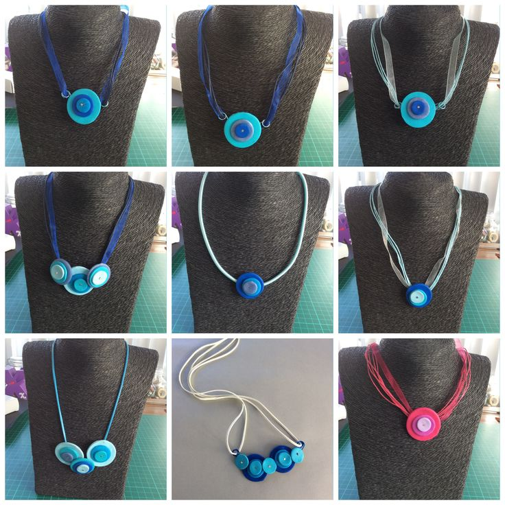 Necklaces disc, Fimo, polymere clay, Jewelry