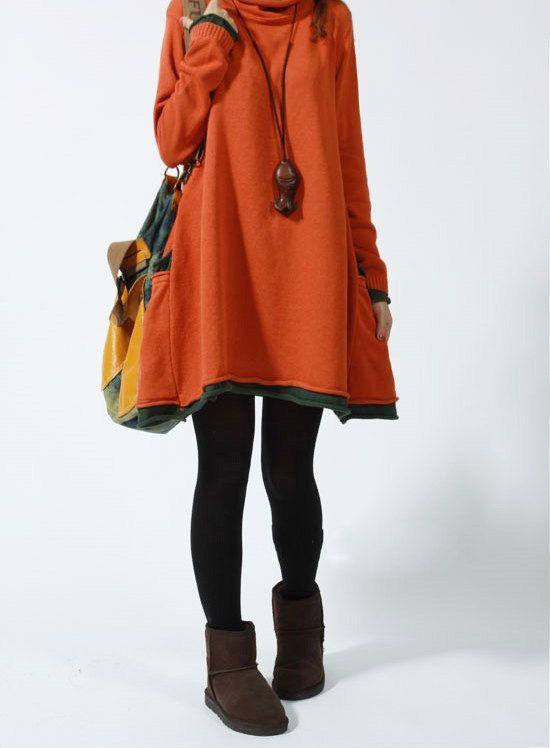 Casual Long Sleeved Sweater Dress Knitwear Blouse by deboy2000, $59.99