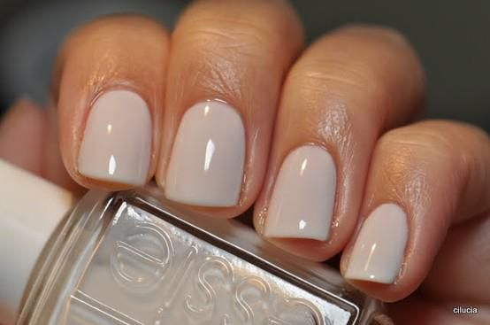 #Bridal Wedding Nails Polish Essie Marshmallow Neutral Nude