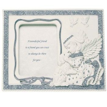 Sarah's Angels Friends Forever Photo Frame - Angel With Dog Collectible, $15.95