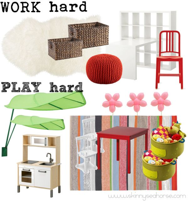 """""""Office & Playroom Combo"""" by skinnyseahorse ❤ liked on Polyvore"""