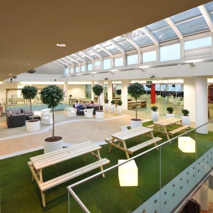 Central social/break-out area @ Rackspace Office Design by Morgan Lovell