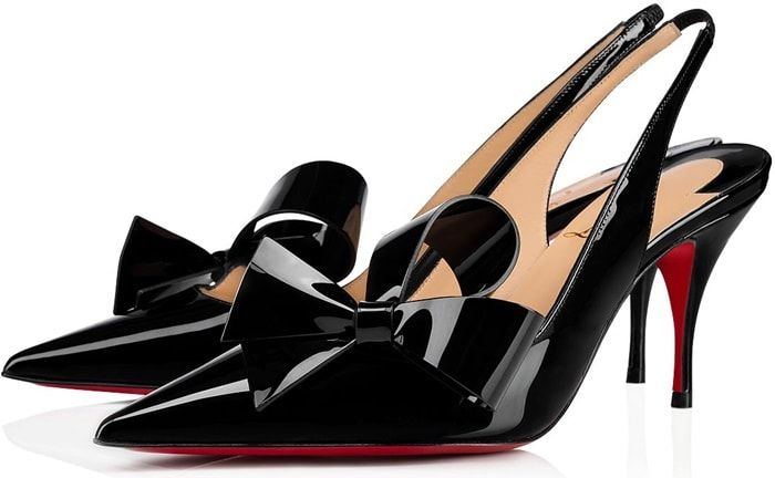 3debcd4404f Clare Nodo 80 Patent Leather Slingback Pumps | Christian Louboutin ...
