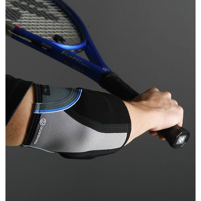 Rehband Core Tennis Elbow Support offers excellent range of movement. Applies pressure on the tendon for relief of tennis elbow pain