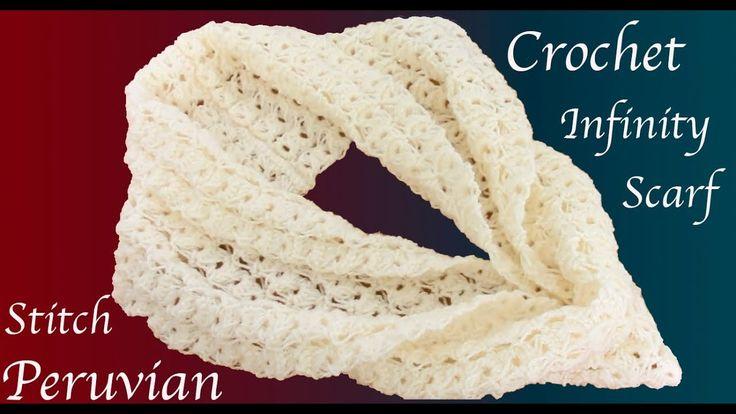 Bufanda a Crochet Punto Peruano tejido tallermanualperu