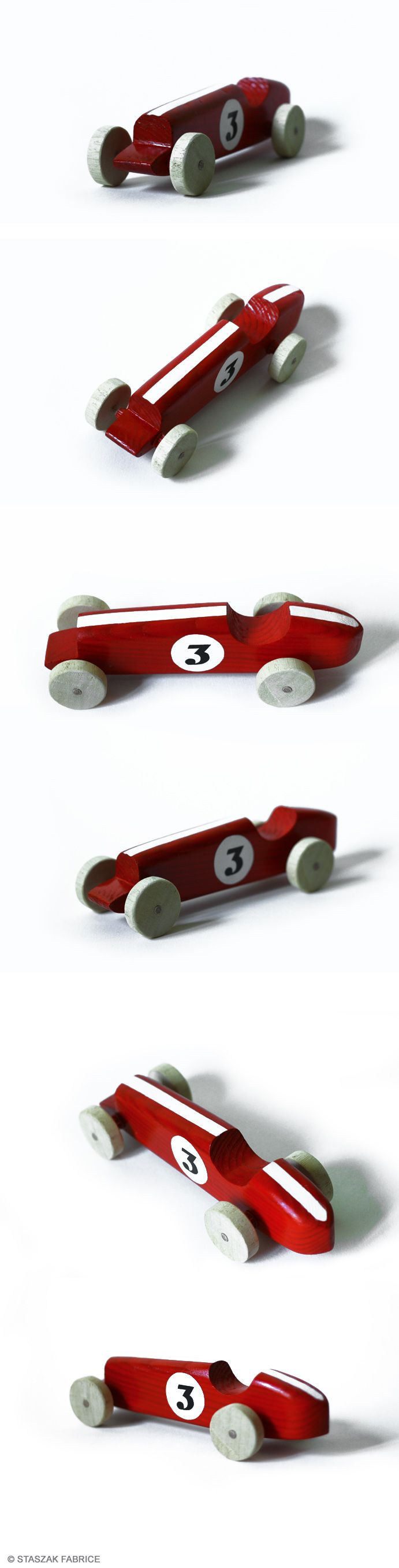 © STASZAK Fabrice 2014 Vintage car toy. Wood car toy.